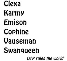OTP Rules The Word Photographic Print