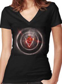 Axtelera Ray - Shield of Zordan Women's Fitted V-Neck T-Shirt
