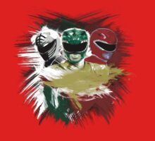 White,Green,Red Rangers Baby Tee