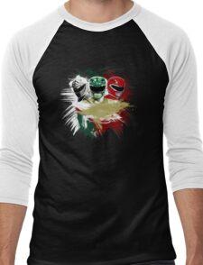White,Green,Red Rangers Men's Baseball ¾ T-Shirt