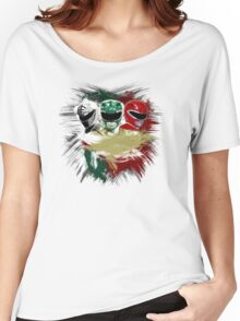 White,Green,Red Rangers Women's Relaxed Fit T-Shirt