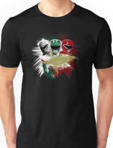 White,Green,Red Rangers Unisex T-Shirt