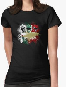 White,Green,Red Rangers Womens Fitted T-Shirt