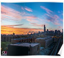 Chicago skyline view from the south Poster