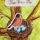 Happy Mothers Day (Red Robin) by Carrie Glenn