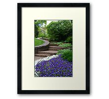Up The Floral Walkway Framed Print
