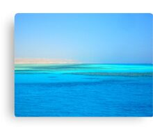 The Blue Red Sea Canvas Print