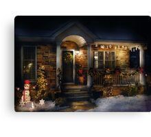Christmas - Dressed up for the holidays Canvas Print