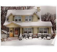 Christmas - One cold winter's morning Poster