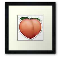 Peach Emoji Framed Print