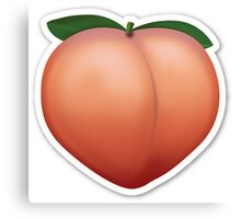 Peach Emoji Canvas Print