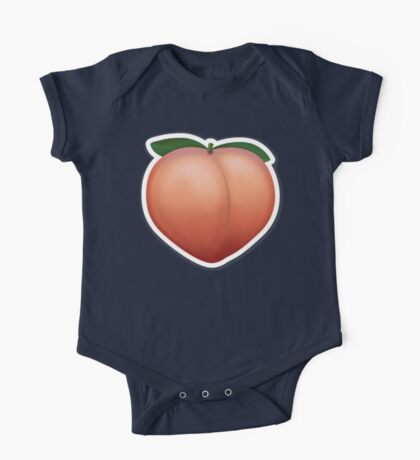 Peach Emoji One Piece - Short Sleeve