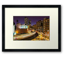 "The ""L"" train at the Loop Framed Print"