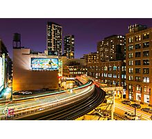 """The """"L"""" train at the Loop Photographic Print"""