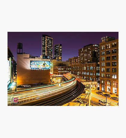 "The ""L"" train at the Loop Photographic Print"