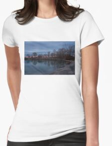 Calm, Pink Morning - Lake Ontario in Toronto Womens Fitted T-Shirt