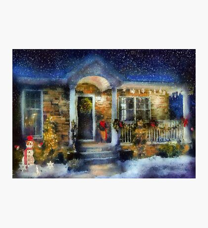 Christmas - Dressed up for the holidays - painted Photographic Print