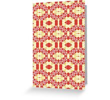 Red, Yellow and White Abstract Design Pattern Greeting Card