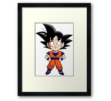 San Goku Chibi Framed Print