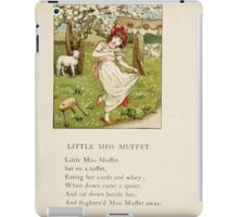 The April Baby's Book of Tunes by Elizabeth art Kate Greenaway 1900 0059 Little Miss Muffet iPad Case/Skin