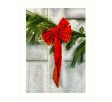 Christmas - Ribbon Art Print