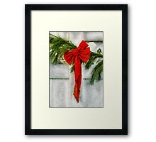 Christmas - Ribbon Framed Print