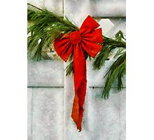 Christmas - Ribbon Photographic Print