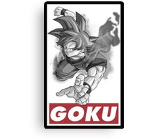 Goku Obey Style Canvas Print