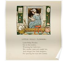 The April Baby's Book of Tunes by Elizabeth art Kate Greenaway 1900 0032 Little Polly Flinders Poster
