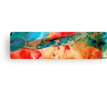 Life Eternal Red And Green Abstract Canvas Print