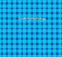 Blue Plaid - colormymemory by ColorMyMemory