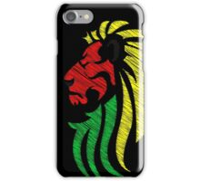 Lion Reggae Colors Cool Flag Vector Art  iPhone Case/Skin