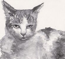 Displeased (pastel) by Niki Hilsabeck