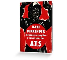 Join The A.T.S. -- WWII Propaganda Greeting Card