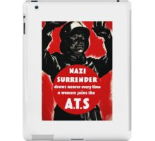 Join The A.T.S. -- WWII Propaganda iPad Case/Skin