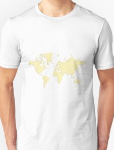 World With No Borders - yellow T-Shirt