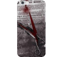 Crime Evidence - Blood and Scissors iPhone Case/Skin
