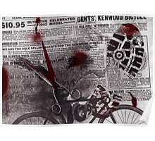 Crime Evidence - Blood and Scissors Poster