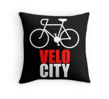 VeloCity Version 2 Red White Throw Pillow
