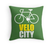 VeloCity Version 3 Yellow White Throw Pillow