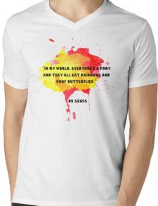 Funny Quote Mens V-Neck T-Shirt