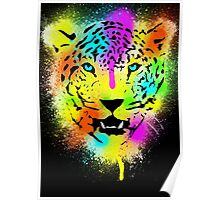 POP Tiger - Colorful Paint Splatters and Drips - Art Prints Poster