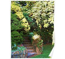The Stairs that lead to the Garden  Poster