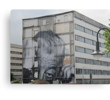 Mural of a sneaky man in Berlin Metal Print