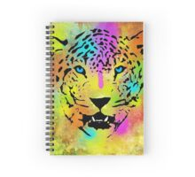POP Tiger - Colorful Paint Splatters and Drips - Stained Canvas Art  Spiral Notebook