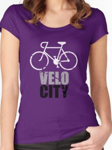 VeloCity Version 4 Extra Urban Cycle Women's Fitted Scoop T-Shirt