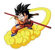 Goku Magic Cloud Photographic Print