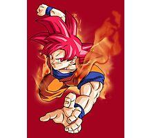 Goku Fire Photographic Print