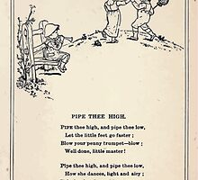 Miniature Under the Window Pictures & Rhymes for Children Kate Greenaway 1880 0035 Pipe Thee High by wetdryvac