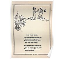 Miniature Under the Window Pictures & Rhymes for Children Kate Greenaway 1880 0035 Pipe Thee High Poster